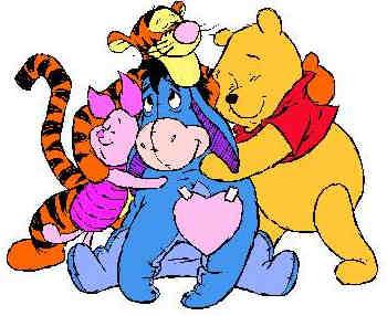 pooh family hug